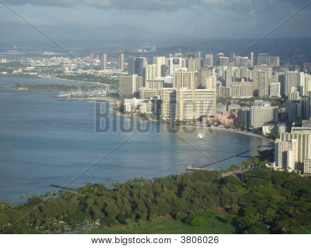 Waikiki  Honolulu High Angle