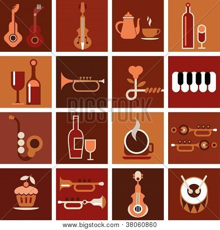 Music Cafe - Vector Illustration
