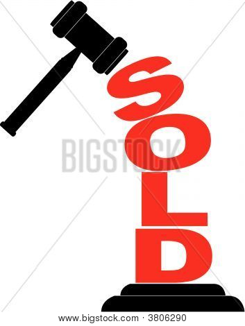 Gavel Hitting Sold