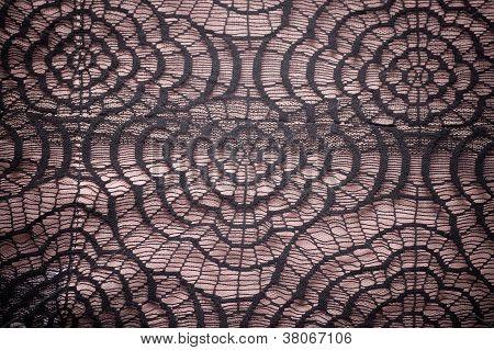Vintage elegant lace on a beige background