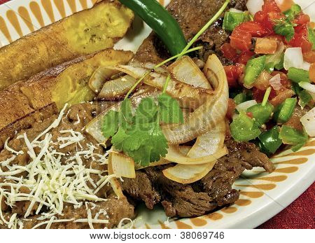 Carne Asada with Platanos