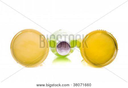Three Bottles Of Lemonade