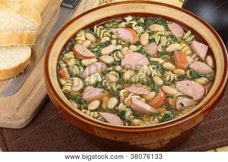 Pot Of Kielbasa Soup