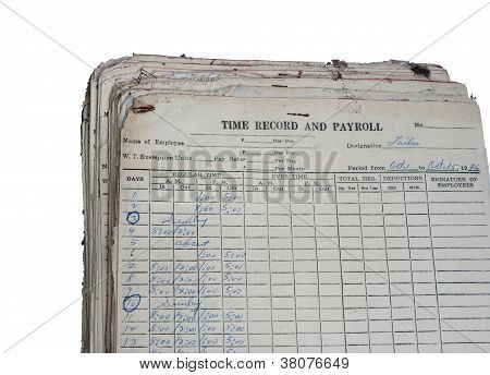 Old Time Record And Payroll