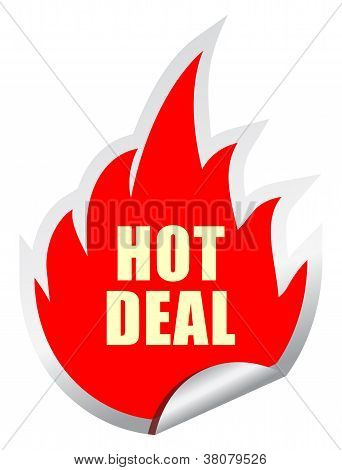 Hot deal vector sticker