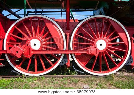 Ancient locomotive wheels