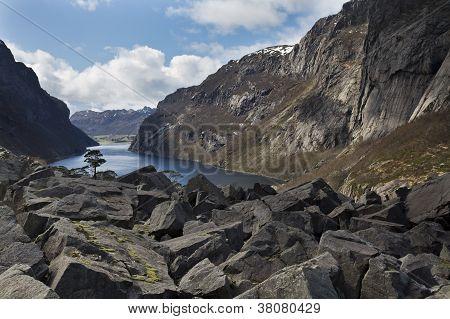Deep Valley In Norway