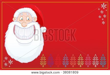 Funny Santa Claus smiling card