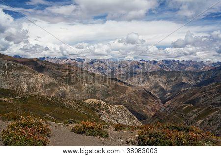 Mountain landscape in Dolpo, Nepal