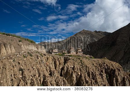 Mountain dramatic landscape in Dolpo area Nepal