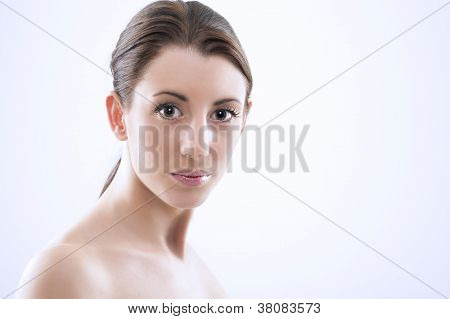 Beautiful Woman With Lustrous Eyes