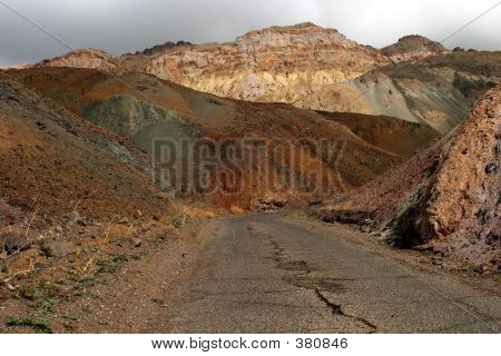 Desert Road In Mountain