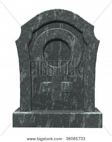 weibliche Symbol auf Grabstein