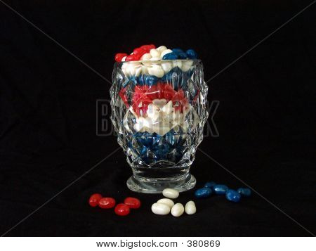 Red White And Blue Jelly Beans