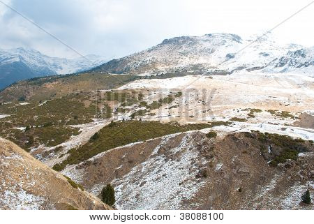 Winter Landscape At Boi Taull, Catalonia Spain.