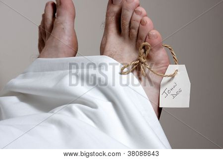 Feet Of A Corpse