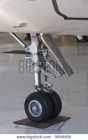 Detail Of Jet Landing Gear