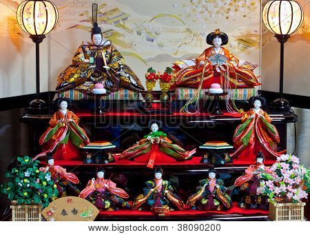 Japanese Hina doll that displayed for Hina Matsuri festival