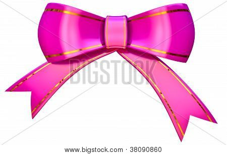 lilac satin gift bow