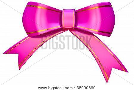 lilac satin gift bow