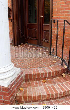 Pretty brick step entryway