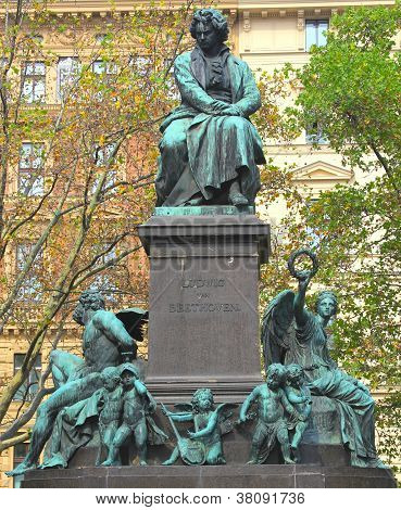 Ludwig van Beethoven statue in Vienna, Austria.