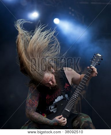 Suicide Silence performs live on stage at Tuska Open Air Metal Festival