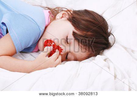 Sweet Happy Little Girl Sleeping