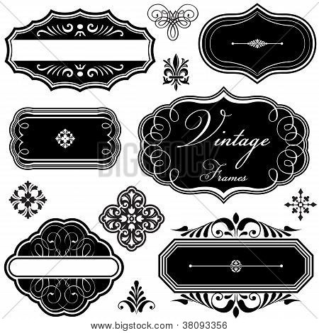 Fancy Vintage Frames and Ornaments