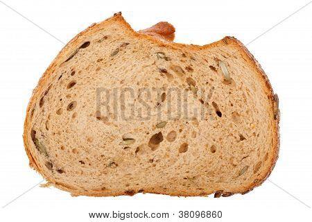 Slice Of Brown Seedy Bread