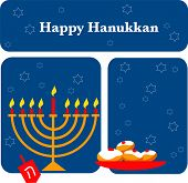 foto of dreidel  - Hanukkah background with menorah and dreidel - JPG