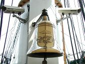 picture of uss constitution  - Bell on the USS Constitution docked in Boston Massachusetts - JPG
