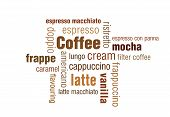 stock photo of frappe  - A typography illustration of coffee - JPG