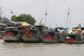 Market boats on the Mekong River