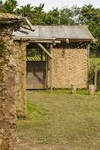 foto of mud-hut  - Living Accomodation Made of Mud and Wood from the Branches - JPG