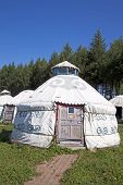pic of yurt  - yurt in the grassland outdoors in China - JPG