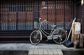 Old Bicycle in front of a Japanese House