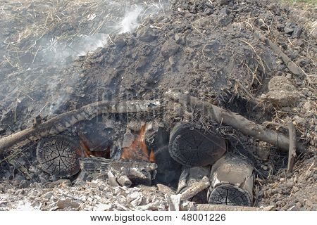 Carbón ardiente