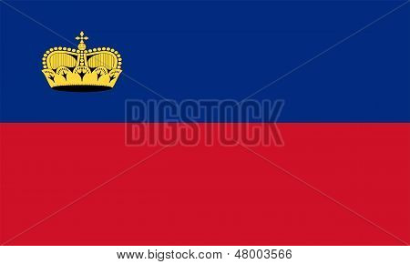 Flag Of Liechtenstein.