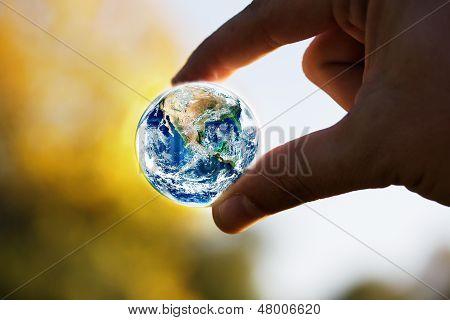 Salvar el planeta concepto