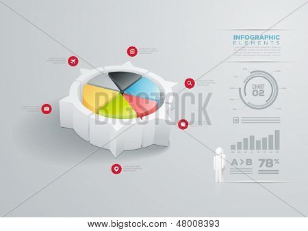 Vector pie chart infographic design template.