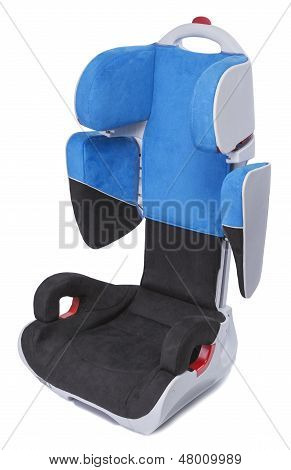 folding car seat on a white background