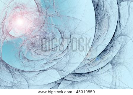 Abstract fractal background in blue marine pink colors