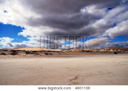Dunes And Clouds.