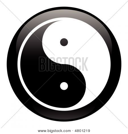 Yin-yang Black Icon
