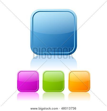 Square buttons set