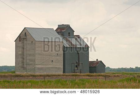 Old fashioned rural grain elevator