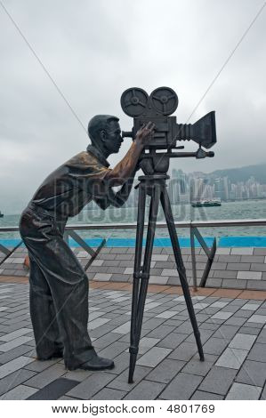 Kameramann Statue