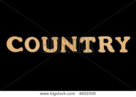 Wooden Word Country