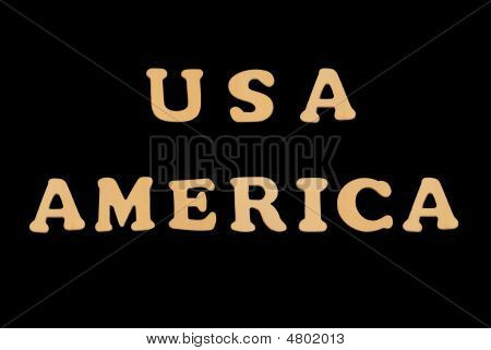 Wooden Word Usaamerica